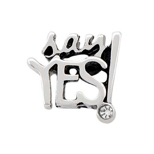 CH4043 Silver Say Yes Charm V1 copy